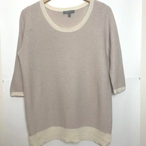 Neiman Marcus 3/4 Length Sleeve Cashmere Sweater
